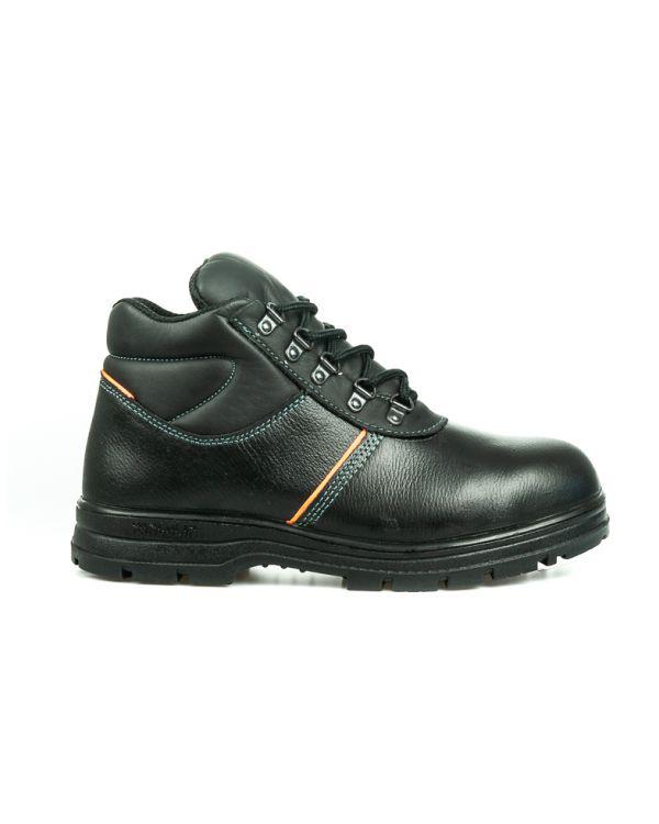 รองเท้านิรภัยหุ้มข้อ รุ่น 0203 พื้น PU (รองเท้าหัวเหล็ก รองเท้าเซฟตี้)