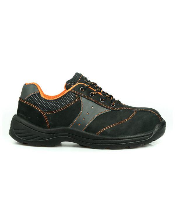 รองเท้านิรภัยหัวเหล็กหุ้มส้น รุ่น 0381 พื้นPU (รองเท้าเซฟตี้ รองเท้าSAFETY)