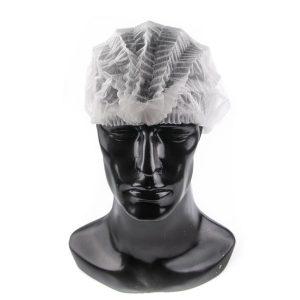 หมวกใยสังเคราะห์ สีขาว (100ใบ/แพ็ค)