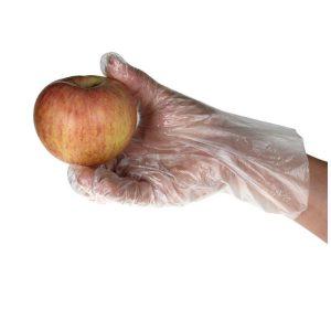 ถุงมือพลาสติกสีขาว(100คู่/แพค)