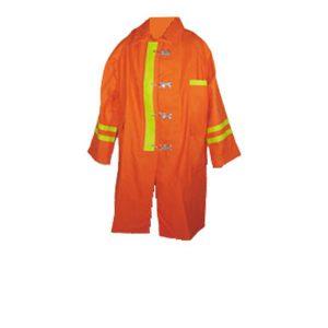 เสื้อคลุมดับเพลิง สีส้ม ยาว 42 นิ้ว