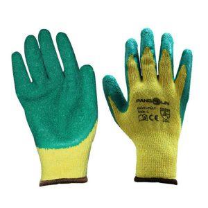 ถุงมือโพลีเอสเตอร์เคลือบ LATEX (ถุงมืองานก่อสร้าง งานซ่อมบำรุง)