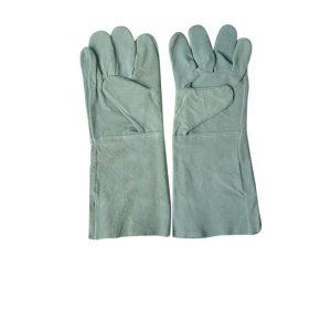 ถุงมือหนังท้องล้วน ขอบยาว ยาว13.5นิ้ว หนา1.2-1.3มม.