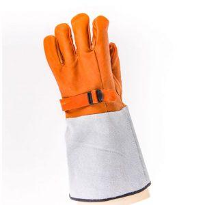 ถุงมือหนังสวมทับถุงมือยางกันไฟฟ้า
