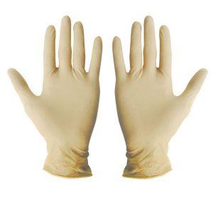 ถุงมือแพทย์ มีแป้ง (50คู่/กล่อง)