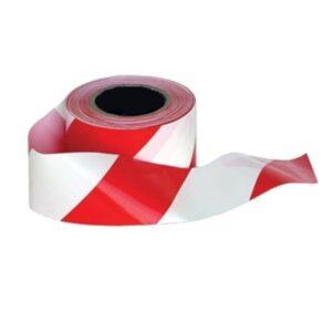 ยูโรเทปขาว-แดง ขนาดกว้าง 3 นิ้ว ยาว 500 เมตร